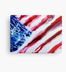 American Distressed USA Flag  Metal Print