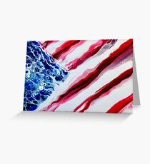 American Distressed USA Flag  Greeting Card
