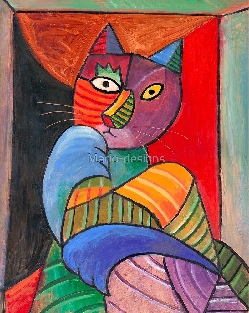 Cubist Cat by Mario-designs