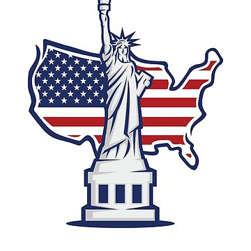 Statue of Liberty New York City USA Flag Souvenir by peter2art