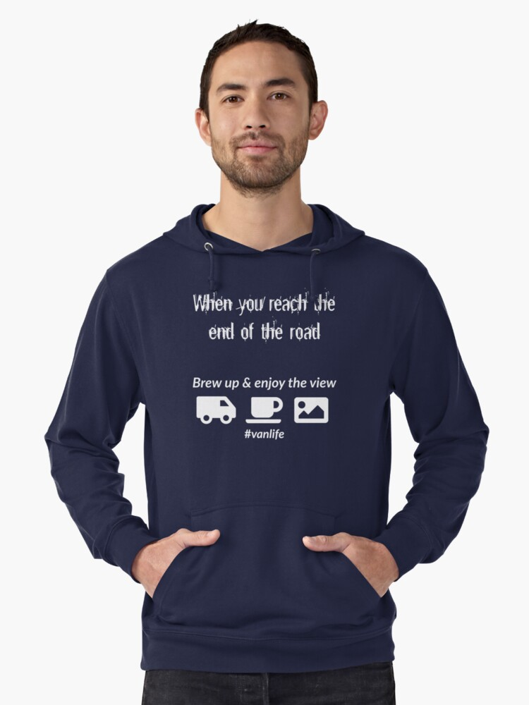 End of the Road Lightweight Hoodie Front