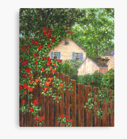 Cascading Roses Canvas Print