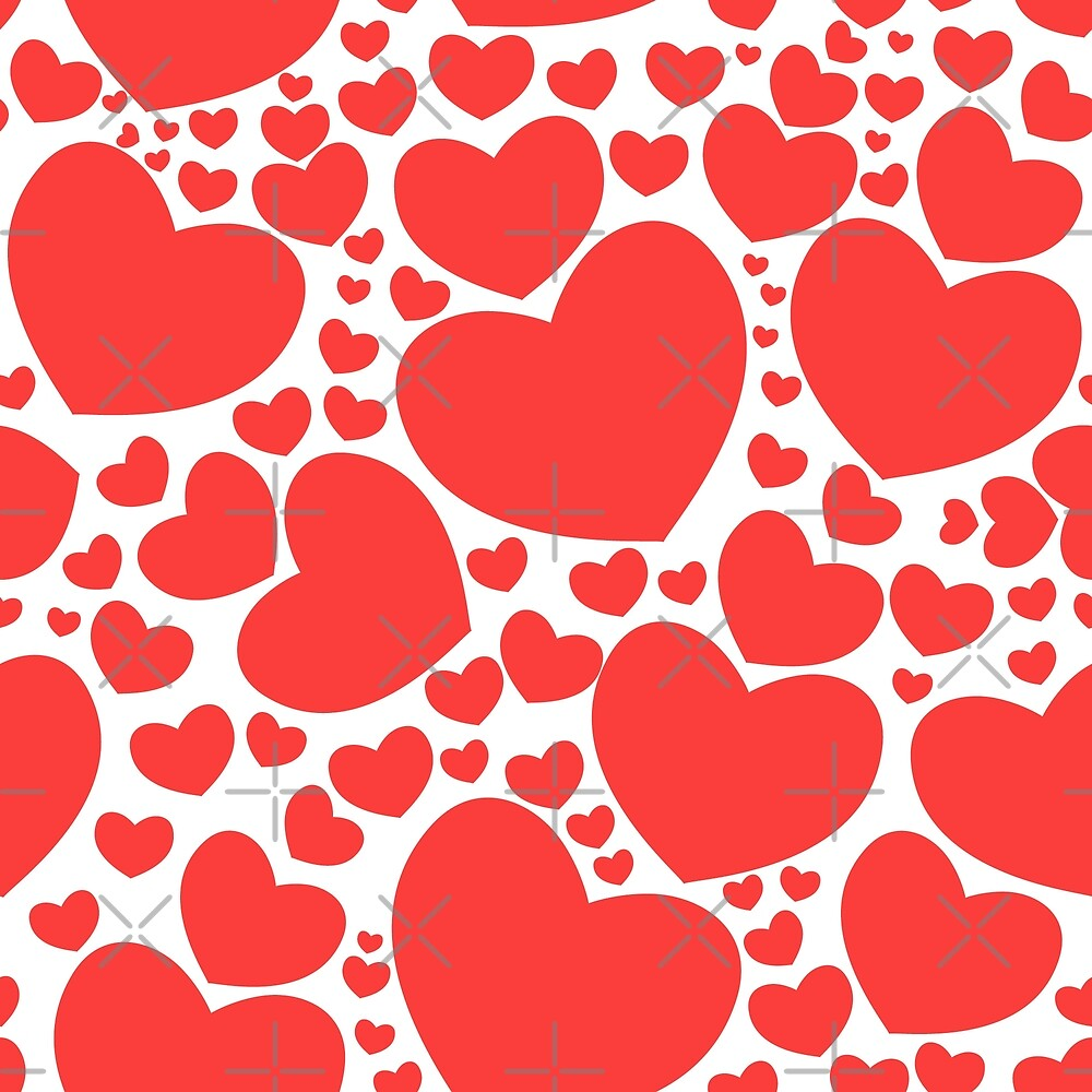 Pattern with nice hearts by asnia