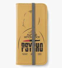 Psycho, Alfred Hitchock, minimalist movie poster, alternative film illustration, playbill iPhone Wallet/Case/Skin