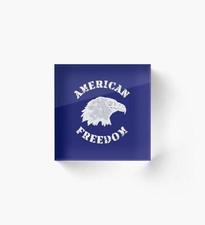 American Freedom Bald Eagle Acrylic Block