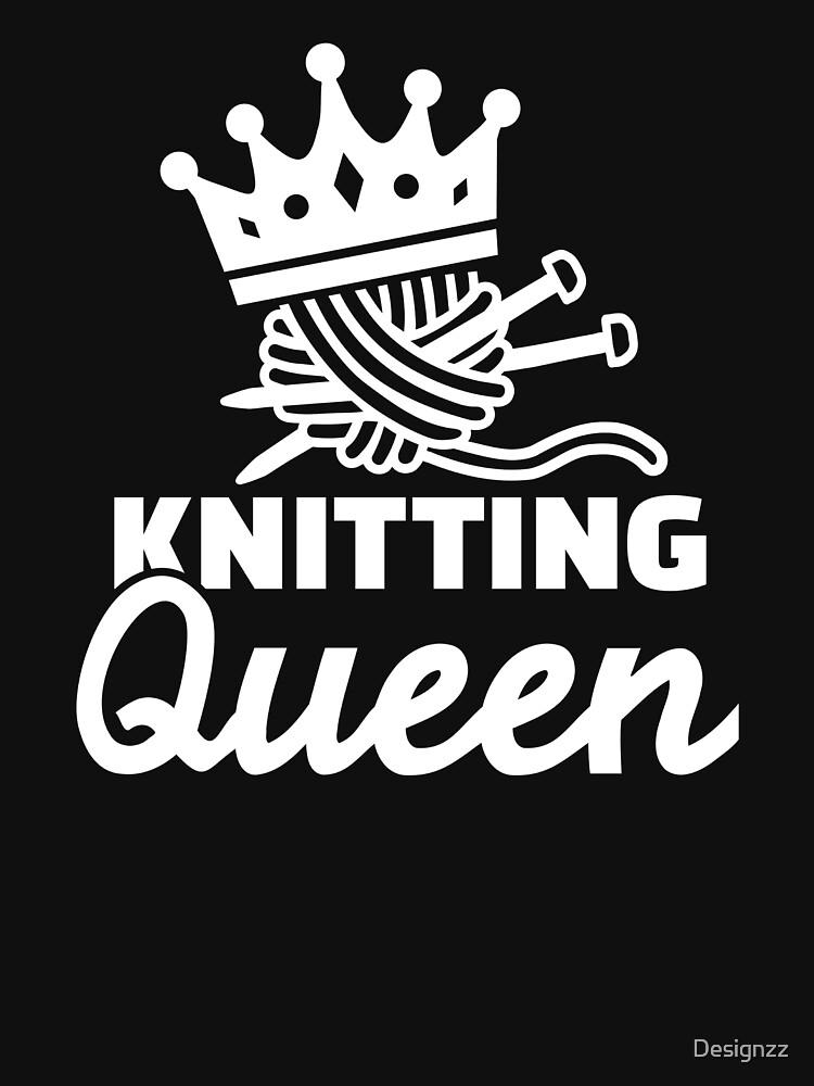 Knitting queen by Designzz