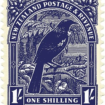 Tui - New Zealand stamp by jennyjeffries