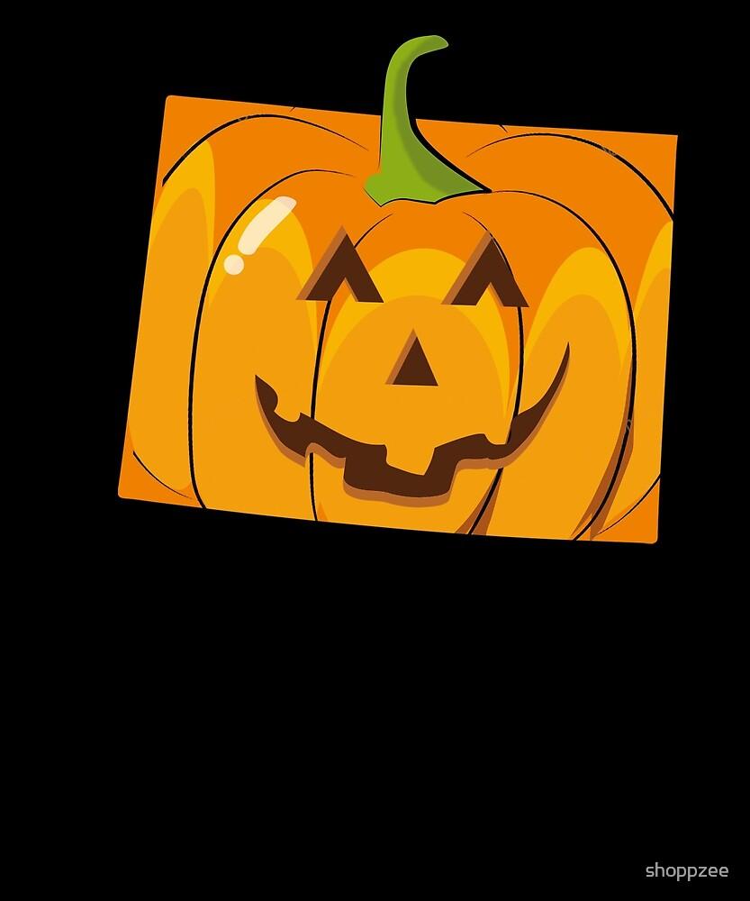 Pumpkin Halloween T Shirt Wyoming Cute Halloween by shoppzee