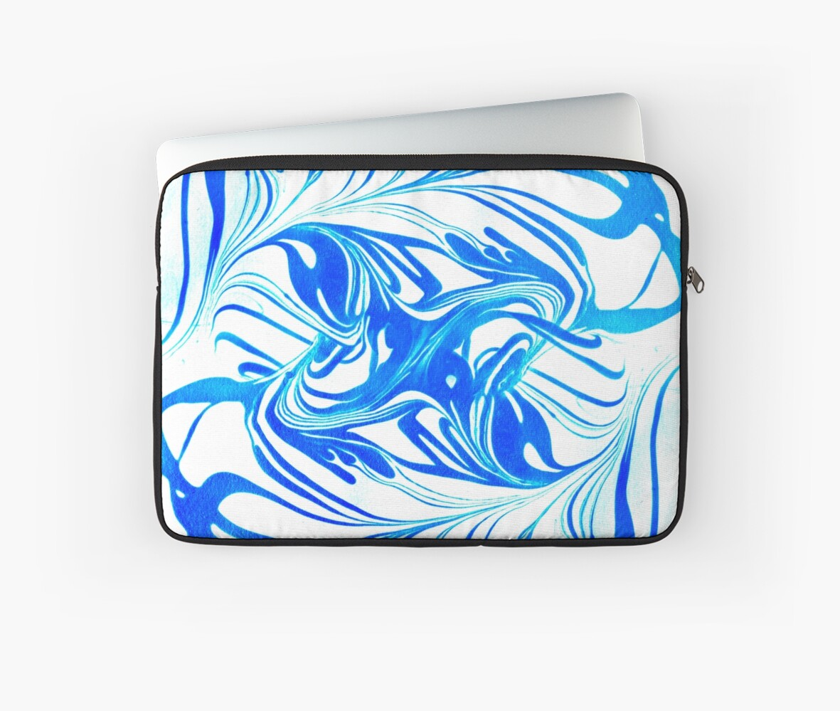 Original Marble Texture - Ocean Breeze by Andrea Pinter