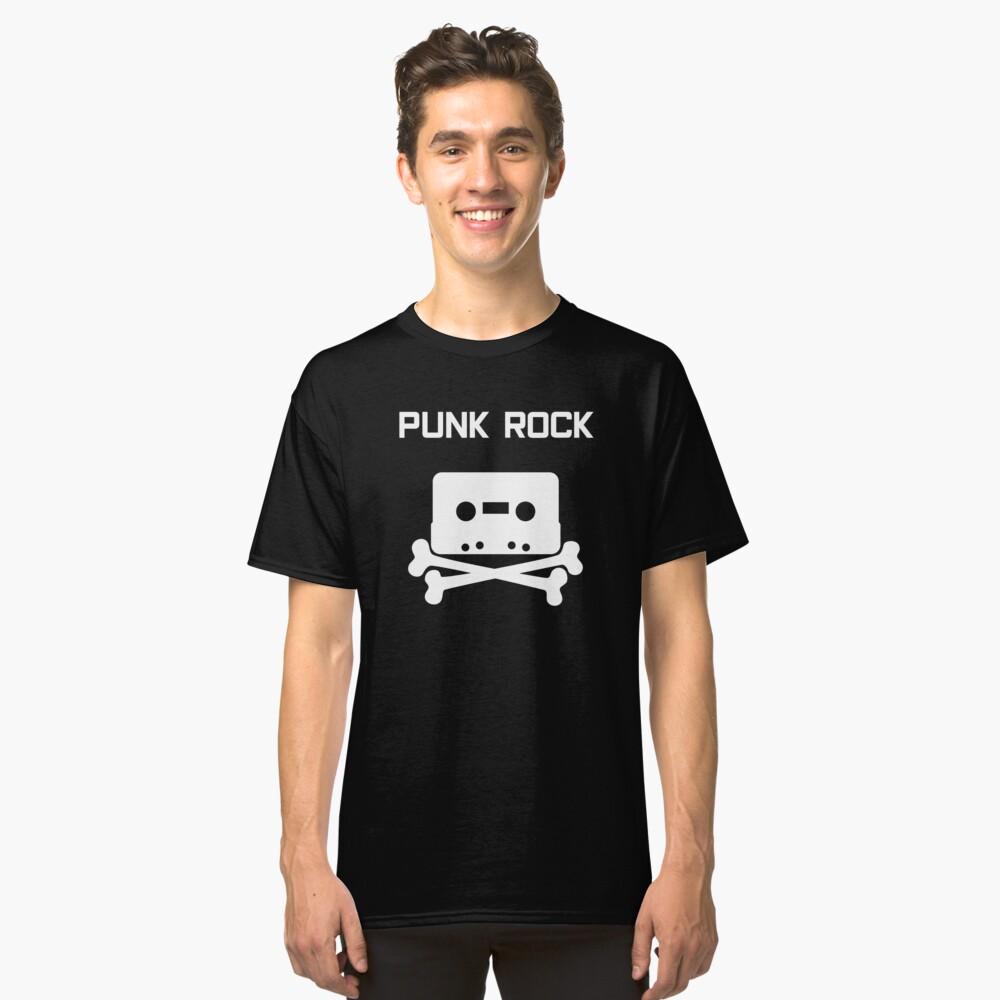 Punk Rock Cassette Skull Classic T-Shirt Front