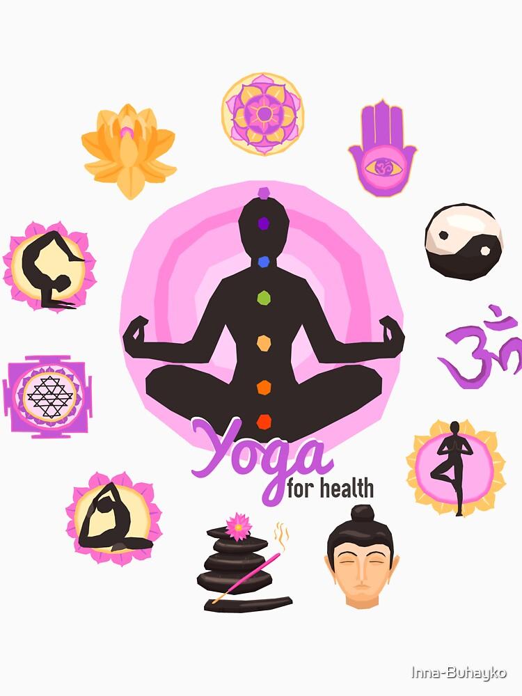 Yoga Pose For Health T Shirt by Inna-Buhayko