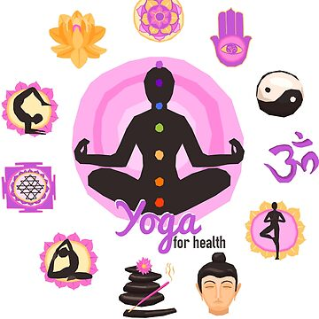 Yoga Pose For Health T Shirt by Inna-Buhayko