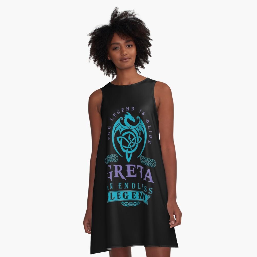 Legend T-shirt - Legend Shirt - Legend Tee - GRETA An Endless Legend A-Line Dress