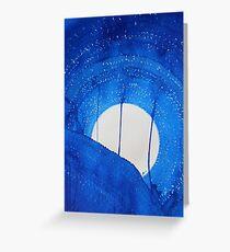 Bad Moon Rising original painting Greeting Card