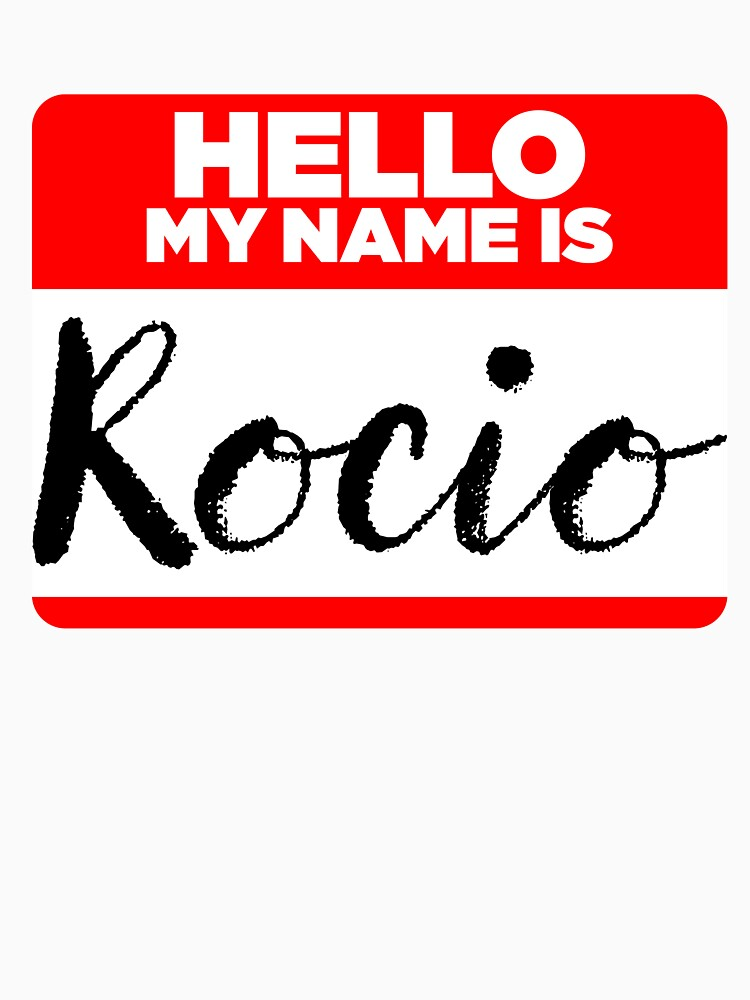 My Name Is... Rocio - Introduction Hipster Sticker Tag by lyssalou2002b
