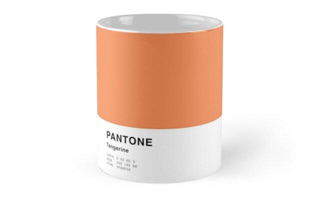 Tangerine Orange Pantone Simple Design by MightyOwlDesign
