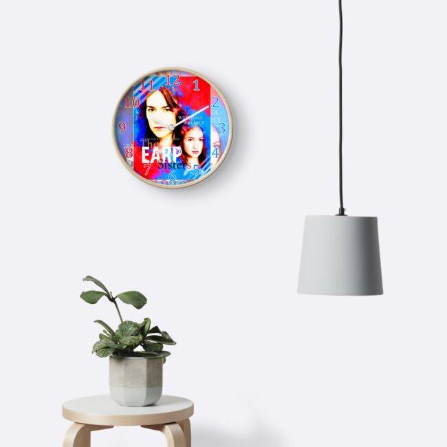 Earp Sister V1.0 Wall Clock by Merbie