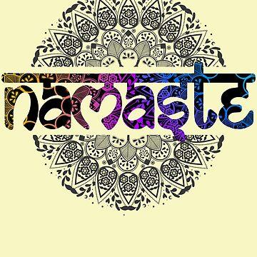 Namaste Yoga Gift T Shirt by Inna-Buhayko