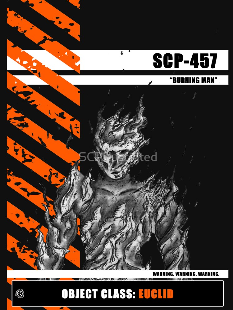 """SCP-457 """"BURNING MAN"""" by SCPillustrated"""