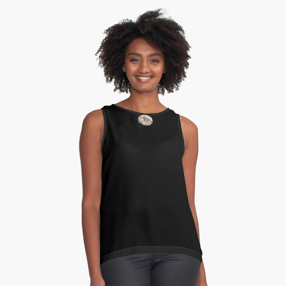 Mother of pearl flower 2 Contrast Tank Front
