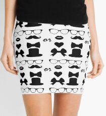 Hipster Stickers Mini Skirt