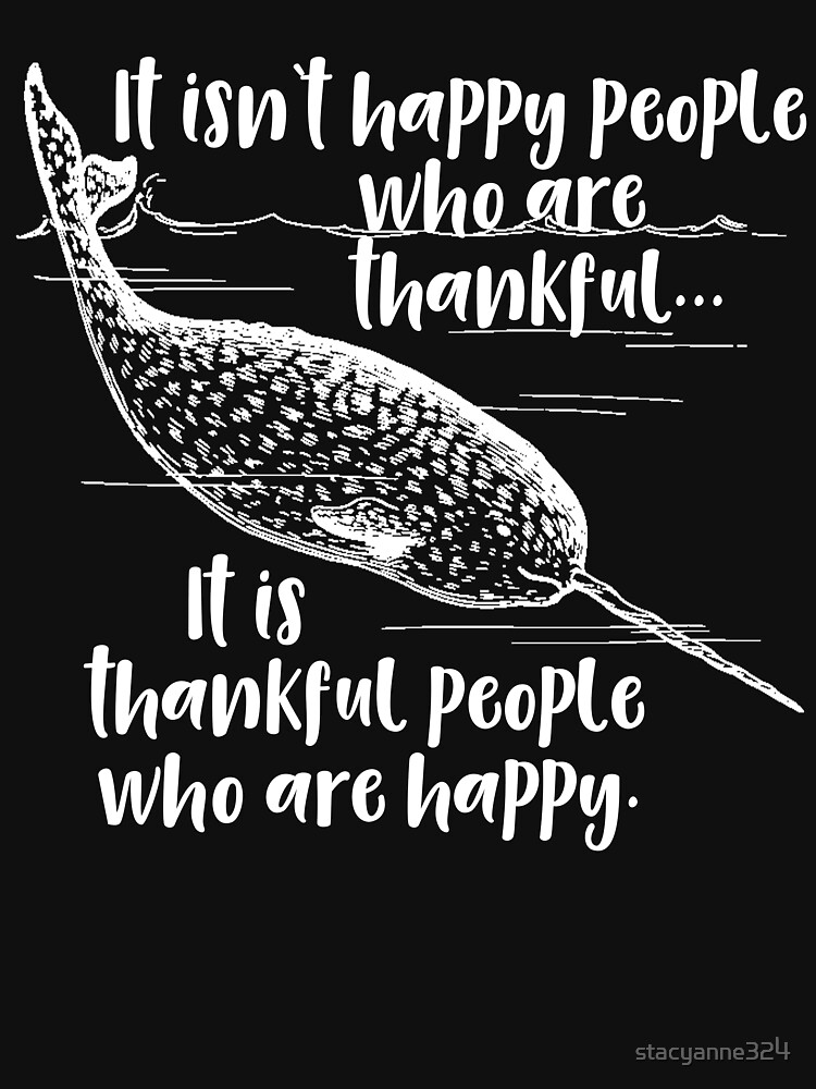 Motivational Thankful Narwhal by stacyanne324