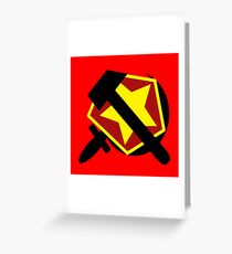 HAMMER  SICKLE AND RED STAR Greeting Card