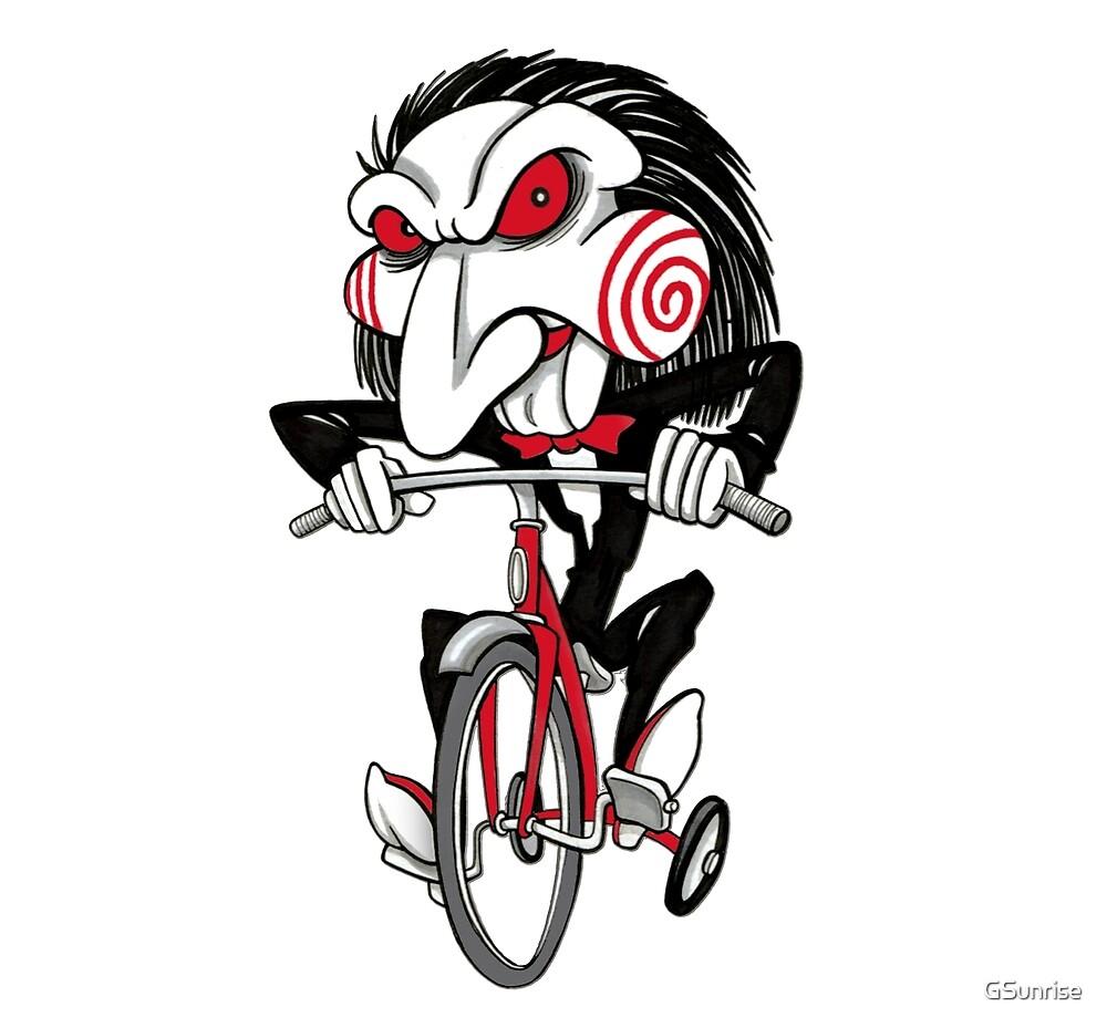 Jigsaw puppet cyclist by GSunrise