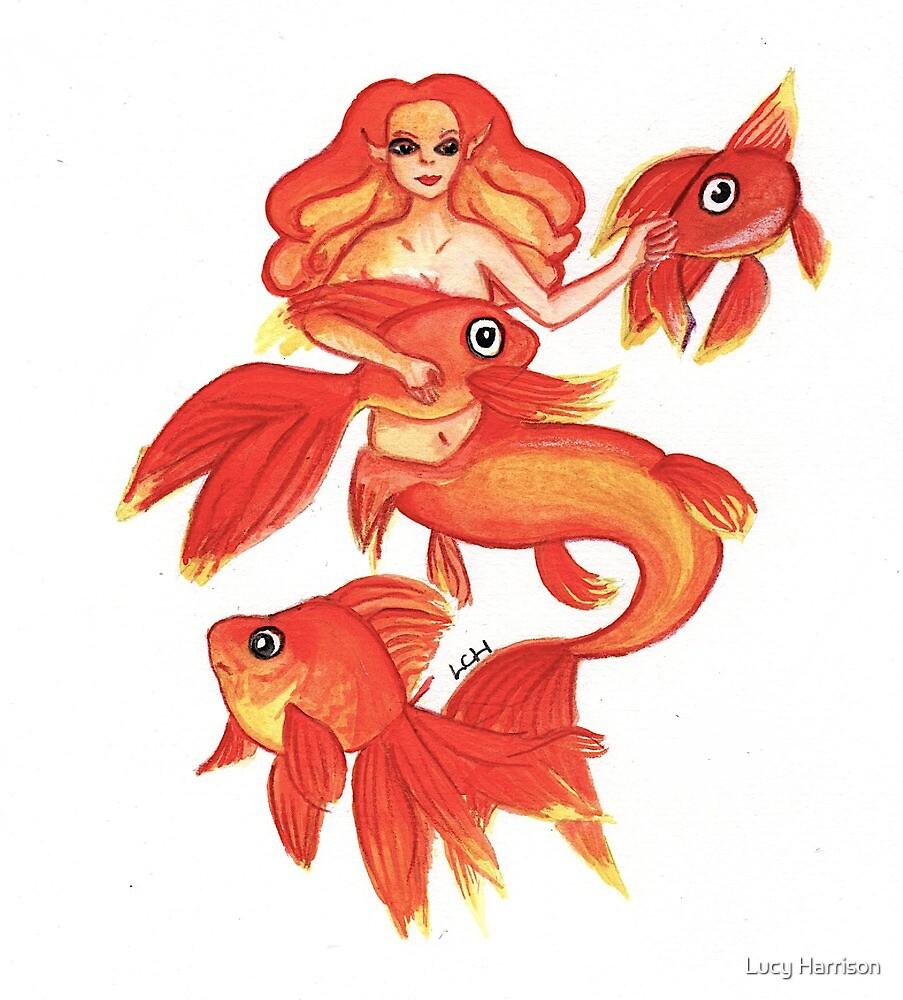 Goldfish mermaid by lcharrison9