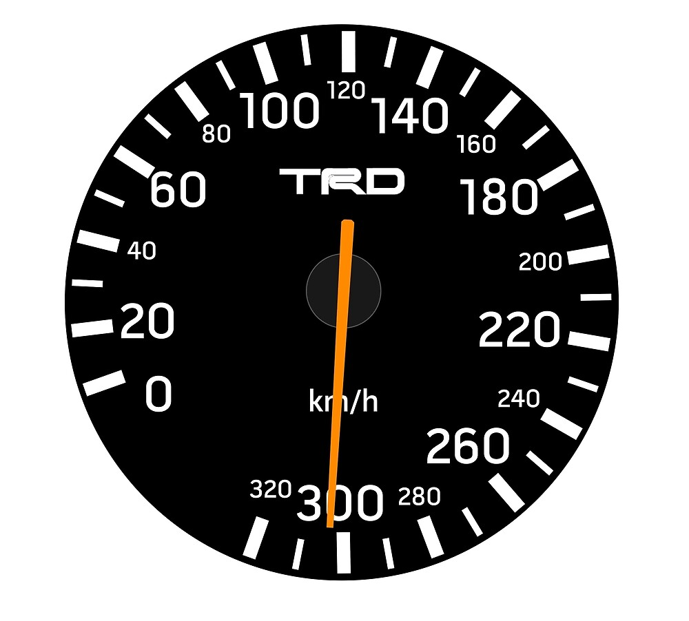 Toyota Supra TRD Speedometer MkIV JZA80 by Toyota Supra