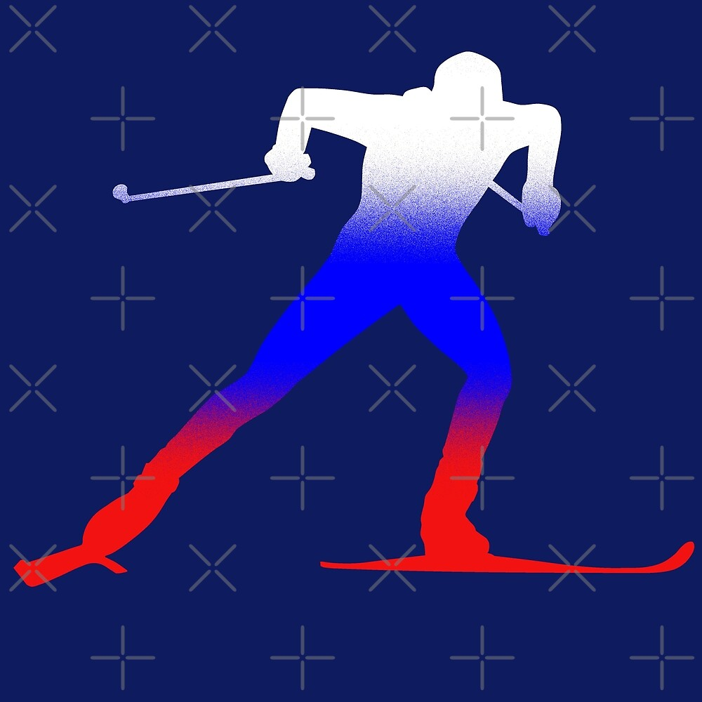 cross-country skiing by Sibo Miller