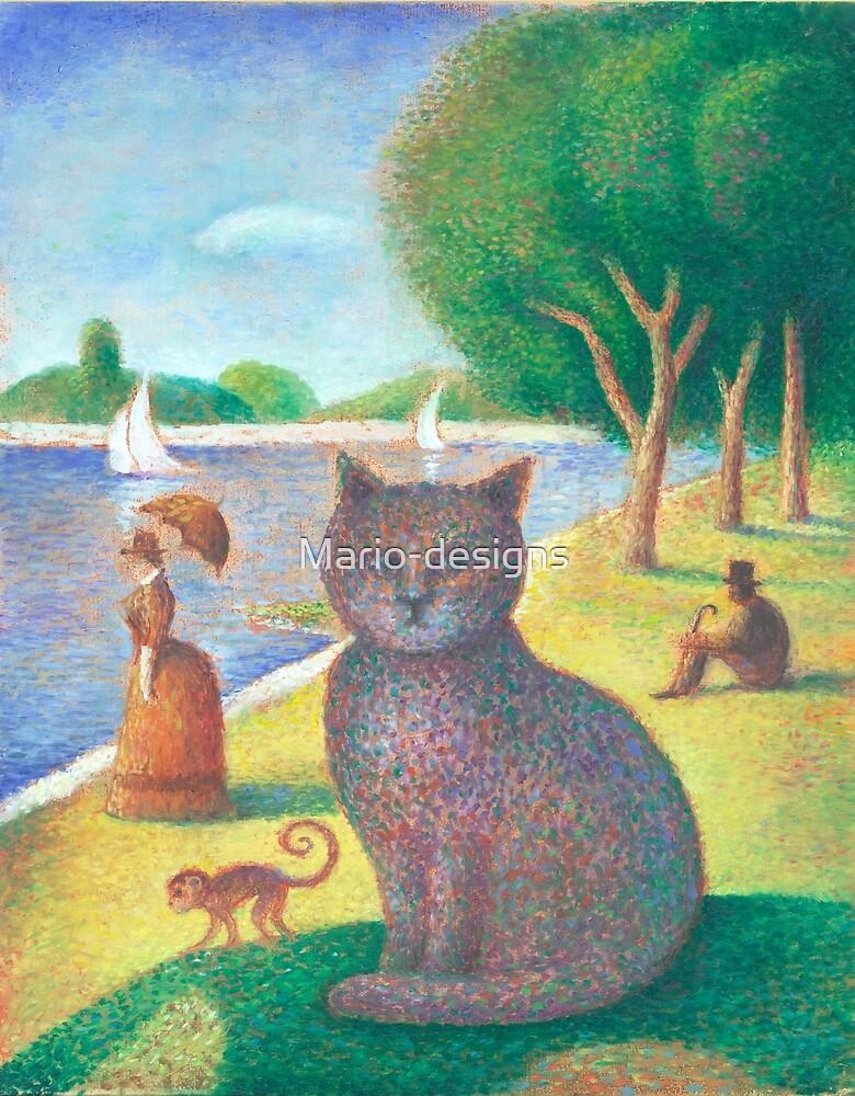Seurat Cat by Mario-designs