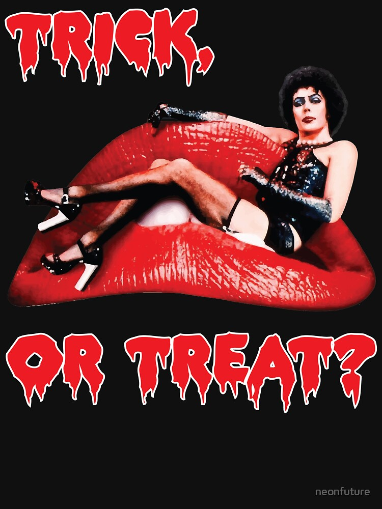 Rocky Horror Picture Show Tim Currie Halloween Trick or Treat Red Lips by neonfuture