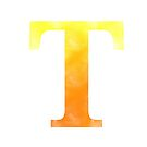 Letter T - Yellow and orange by gaman