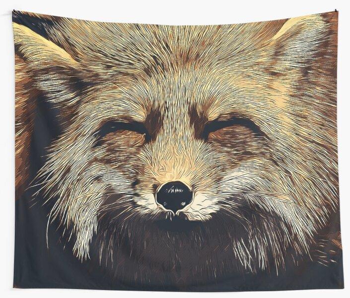 gxp happy fox smiling v2 vector art foggy night by gxp-design