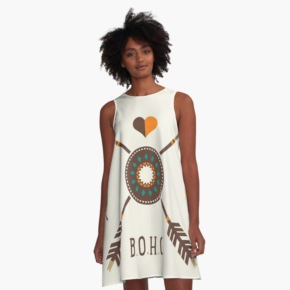 Boho  A-Line Dress Front