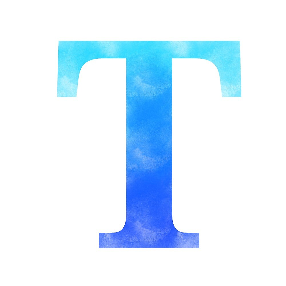 Letter T - Blue by gaman