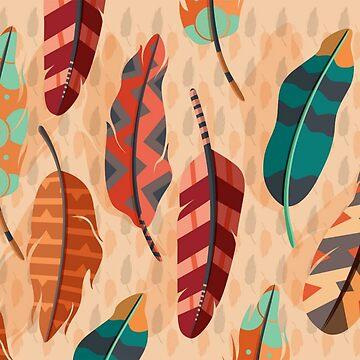 Boho feather  by AmineSecrets