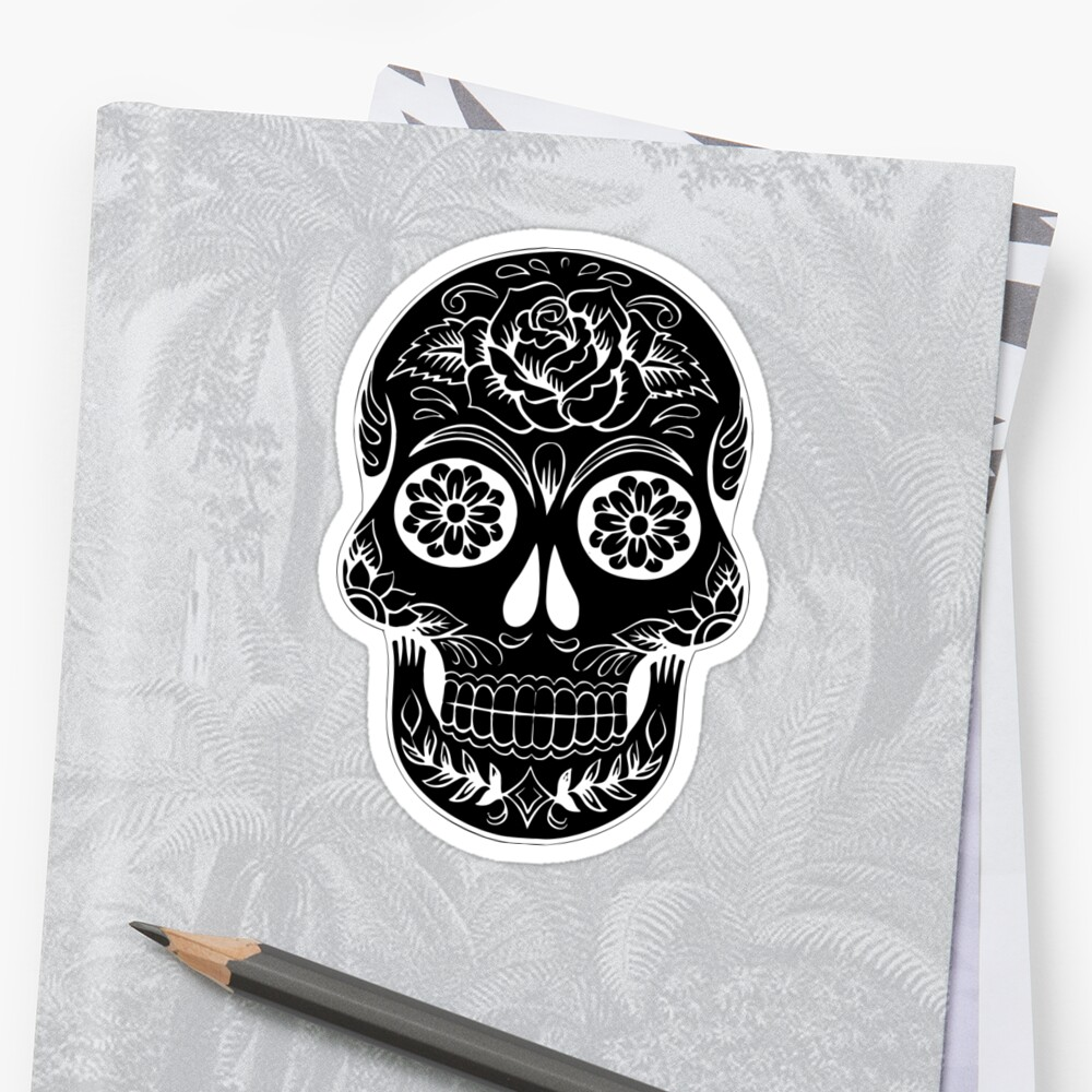 Floral skull Silhouette by Passie
