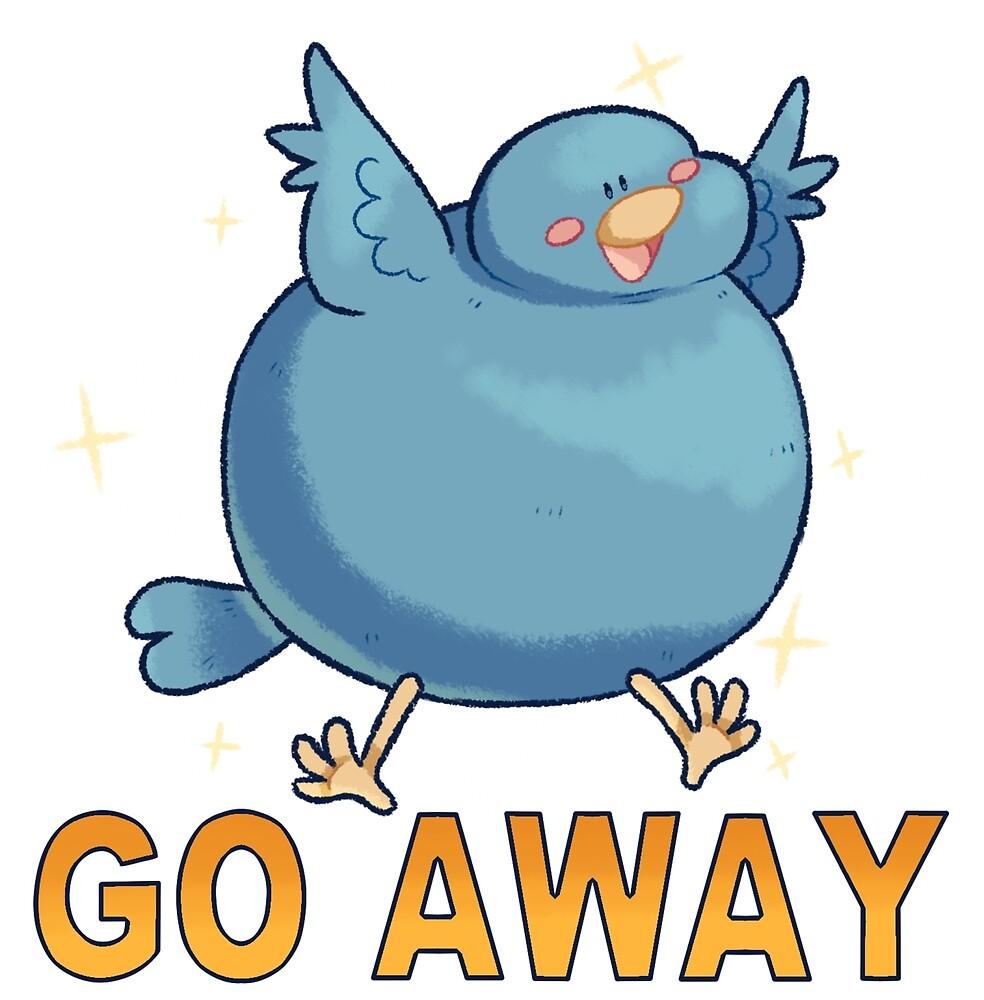 Go Away Bird Prints by Smashchu