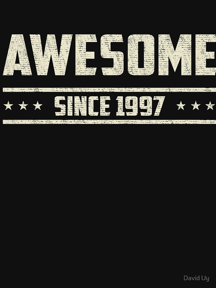 Awesome Since 1997 - Vintage 1997 - Birthday Celebration Gifts by daviduy