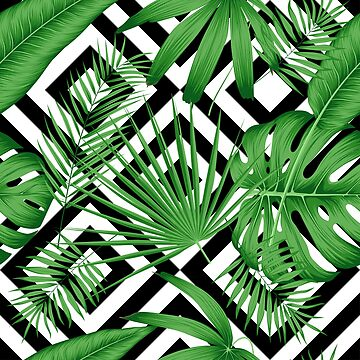 Exotic seamless pattern with tropical leaves by maximgertsen