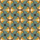 Geometric Pattern: Art Deco: Curve: Lily by * Red Wolf