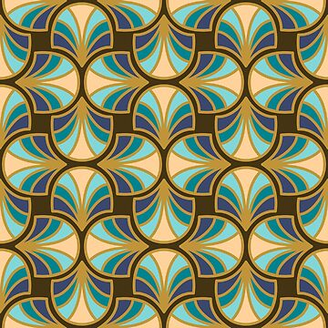 Geometric Pattern: Art Deco: Curve: Dream by redwolfoz
