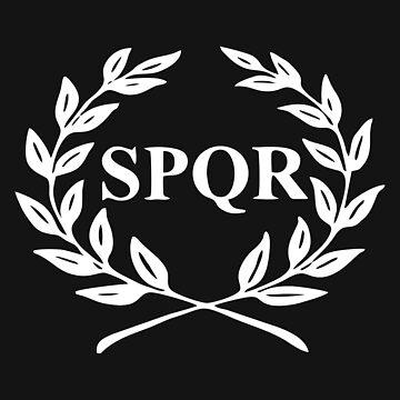 spqr rome roma flag by malisukau