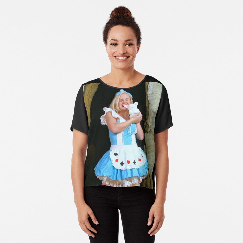 Alice in Wonderland 15 Women's Chiffon Top Front