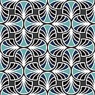 Geometric Pattern: Art Deco: Curve: Midnight by * Red Wolf