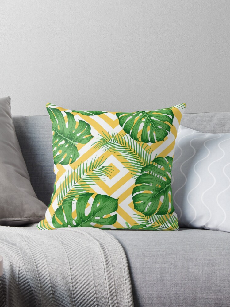 Seamless exotic pattern with tropical leaves  by maximgertsen