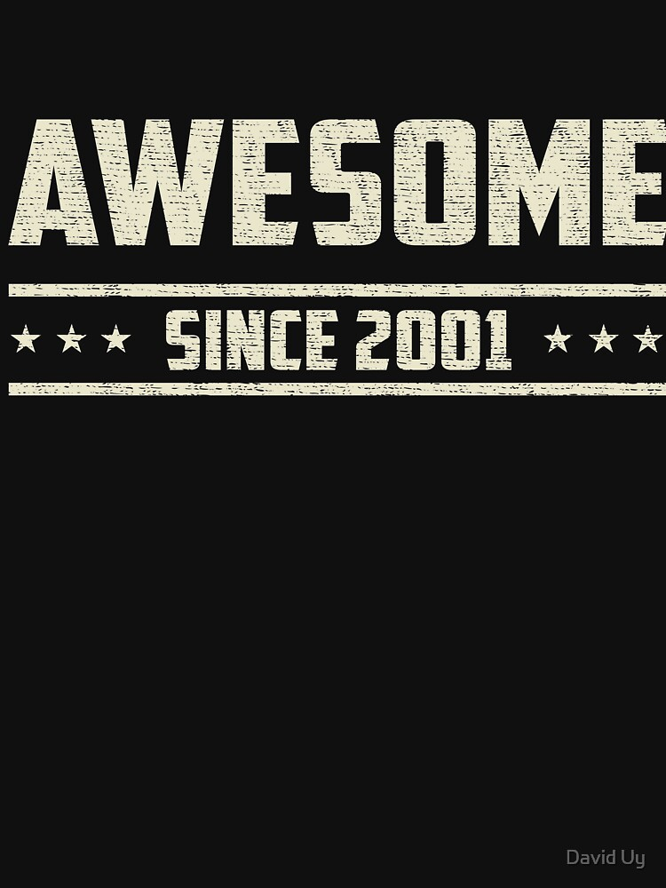 Awesome Since 2001 - Vintage 2001 - Birthday Celebration Gifts by daviduy