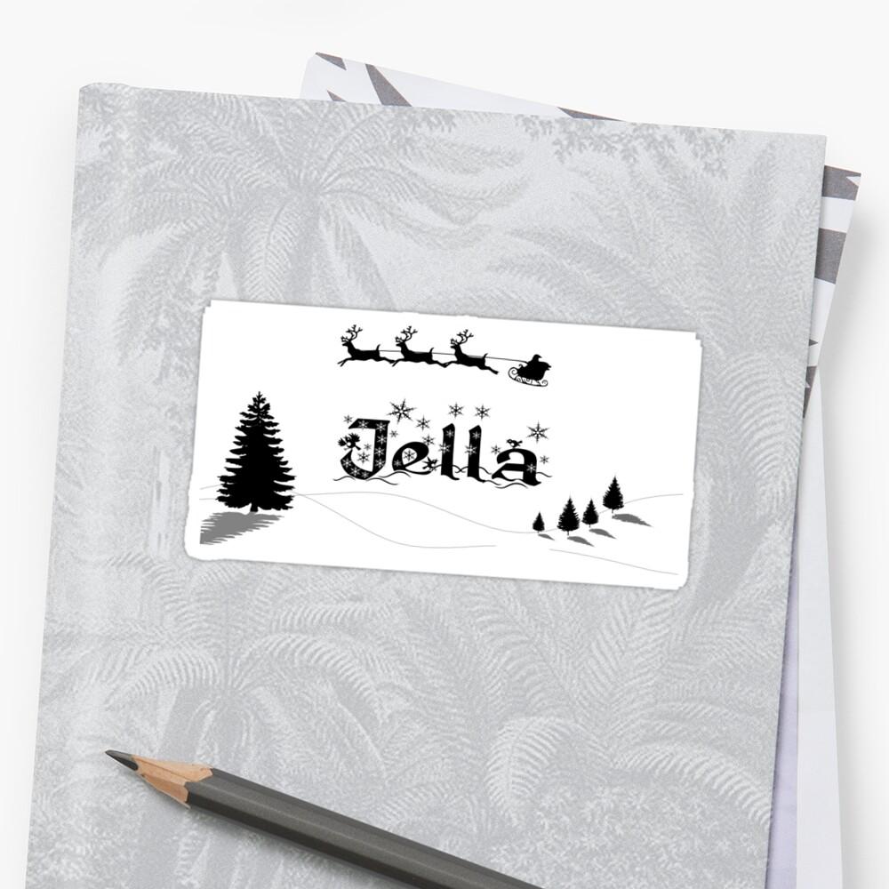 Christmas Name Jella by PM-Names